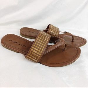 Madden Girl Studded Brown Sandals
